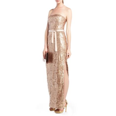 Vestido BCBG dorado
