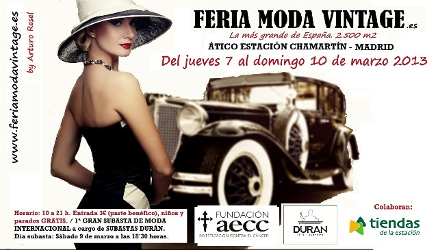 Feria Vintage Ático Chamartín. 7-10 Febrero 2013