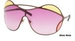 YesWeTrend. Gafas de Sol Redondas Oversize Miu Miu