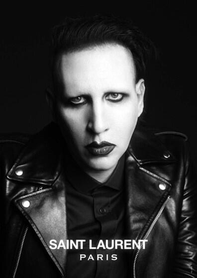 Marilyn Manson nueva imagen masculina de Saint Laurent París