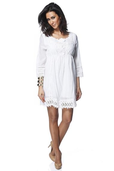 Vestidos de moda: encaje , crochet, guipur ,étnicos y calados.