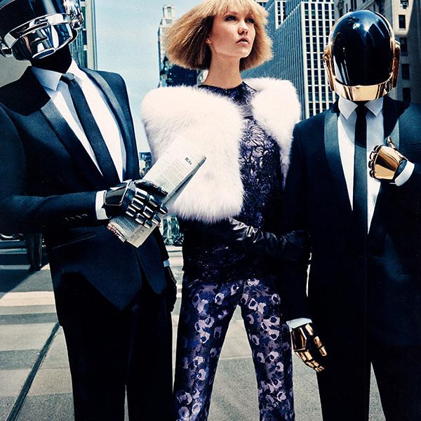 Karlie Kloss y Daft Punk en la Vogue USA de Agosot 2013