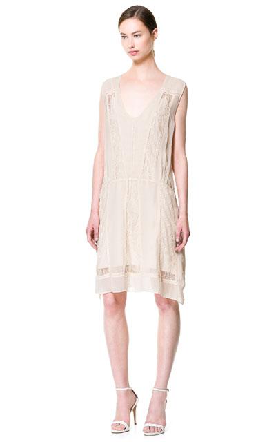 Rebajas de verano 2013: Vestido de Encaje de Zara