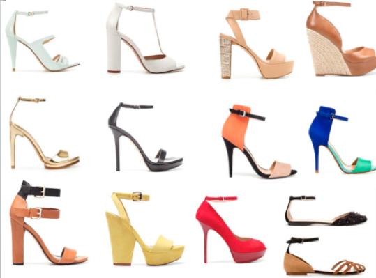 Los zapatos con pulsera en el tobillo, hacen más gorda
