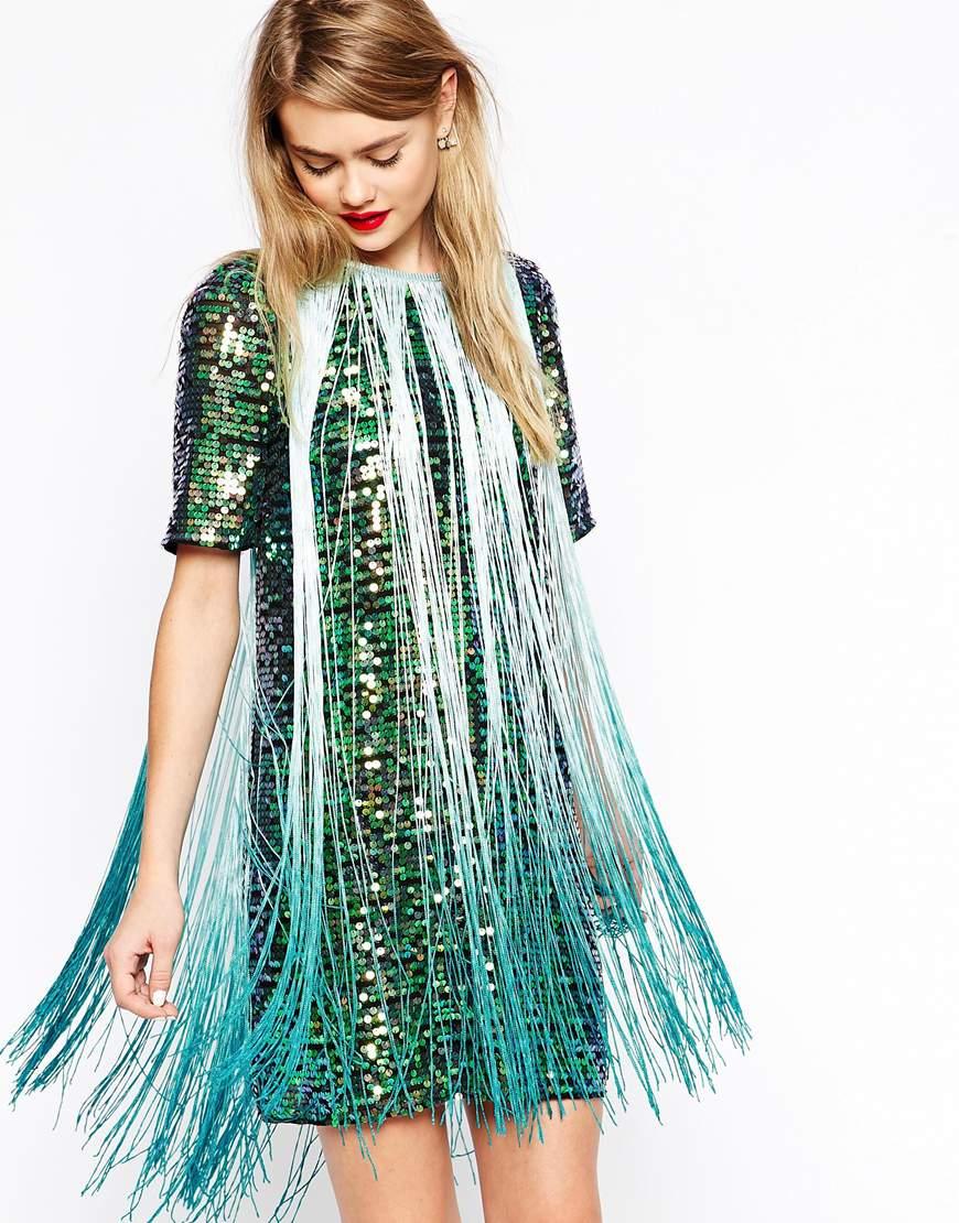Vestido Moda Shopper Personal De Lentejuelas – Tendencias TJKcl13F5u