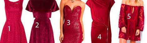 Los must del Invierno 2015: 10 vestidos color vino