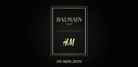 Balmain para H&M: La colección cápsula de la maison saldrá el 5 de Noviembre.