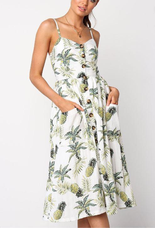 Pinneaple dress